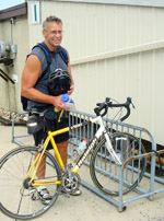 John S. commutes to work at Lancaster Labs by bicycle.