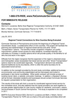 Release CS Regional Transit Study_7-20-10